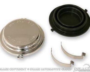 64-66 Master Cylinder Cap (Disc Brakes, Chrome)