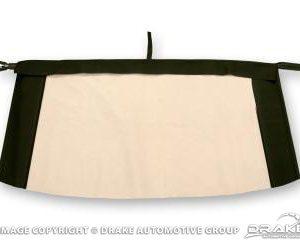67-68 Plastic Convertible Top Rear Window (Black)