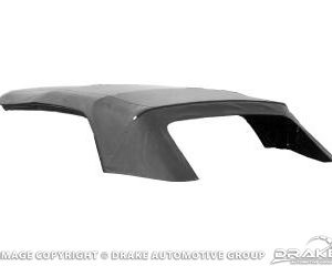 67-68 Convertible Top with Glass Window (Black)