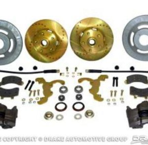 "65-69 Disc Brake Conversion Kit (V8, hi-po slotted rotors, single piston calipers, will not fit original 14""x5"" standard steel rims)"