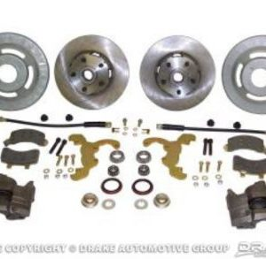"64-69 Disc Brake Conversion Kit (V8, single piston calipers, will not fit original 14""x5"" standard steel rims)"