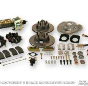 64-66 Disc Brake Conversion Kit with Master Cylinder (V8, 4 piston, non-slotted rotors, power, automatic