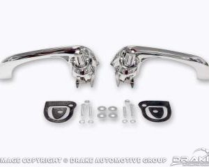 64-66 & 69-70 Door Handles (Economy polished chrome)