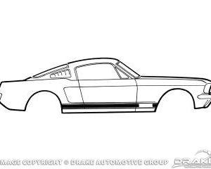 67 GT Stripe Kit (Black)