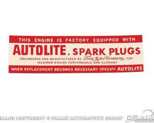 64-68 Air Cleaner Decal (Autolite 8 Cylinder)
