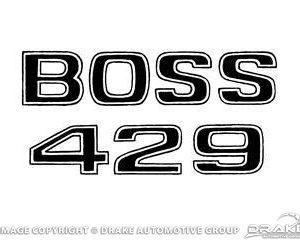 69-70 Boss 429 Fender Decal (Black)