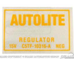 67 Voltage Regulator Decal