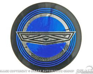65-67 Mustang Wire Wheel Blue Center Decal