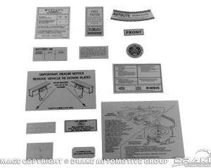 67 14 Piece Decal Kit