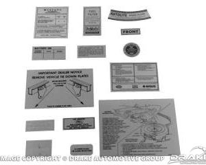 68 14 Piece Decal Kit
