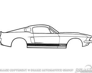 66-68 Shelby GT350 Stripe Kit (Black)