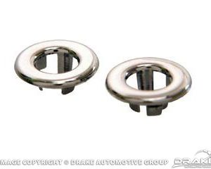 65-68 Lock Knob Grommets (Chrome)