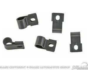 67-8 Underhood Turn Signal Harness Clips (Black)