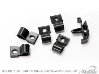 1967-68 under hood harness clips (black, 6 piece, ABS)