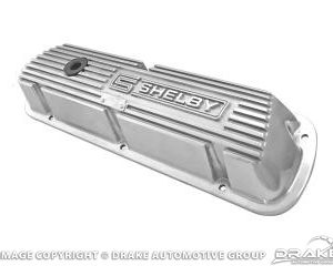 Polished Aluminum Valve Covers with Shelby Logo (Pair)