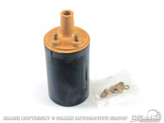 1964-73 Ignition Coil, YELLOW TOP