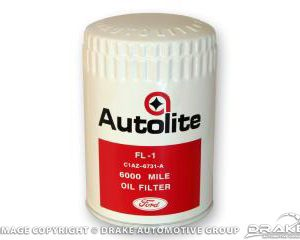 Concours Oil Filter (White/Red Autolite with Ford script)