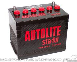 64-72 Autolite Sta-Ful Battery 500 amps (Group 24)