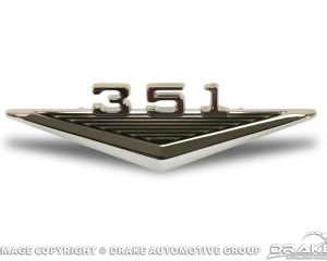64-6 351 Fender Emblem