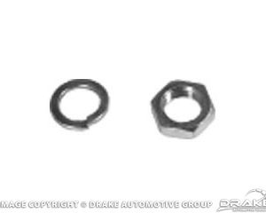 65-73 Alternator Pulley Lock Washer & Nut (Zinc (Silver)