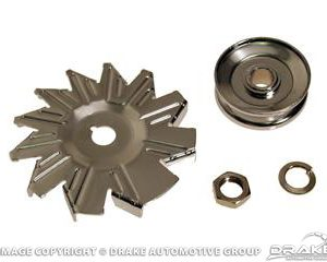 65-3 Alternator Fans & Pulleys (4 Piece kit)