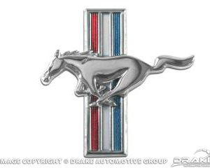 64-66 Running Horse Fender Emblem (64-66 All & 67-68 6 Cyl, LH)