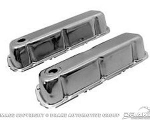 Polished Chrome Valve Covers (289, 302, 351W)