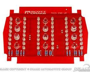 1965-6 LED Tail Light Panels (Pair)