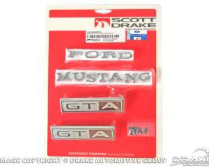 1967 Emblem Kit GTA (All bodystyles 8 Cylinder Auto-Trans)
