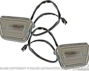 1968 Front Side Marker Lights (Pair)