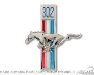 1968 302 Running Horse Fender Emblems (LH)