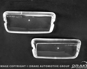 70 Mach 1 Grill Parking Lamp Lenses