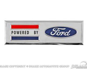 """Powered By Ford"" Fender Emblem"