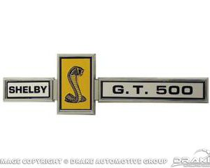 67 GT500 Grill Dash and Deck Emblem