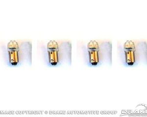 1964-68 Mustang Instrument Panel LED Replacement Bulbs (White 1895, set of 4)