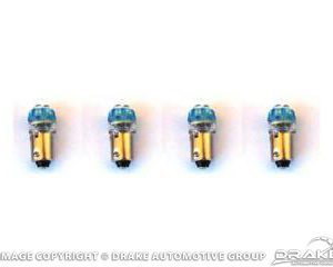 1964-68 Mustang Instrument Panel LED Replacement Bulbs (Blue 1895, set of 4)