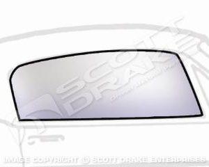 65-66 FB RH Door Glass, Clear