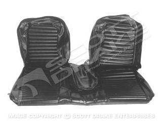 65 Front Bench Seat Upholstery (Black)
