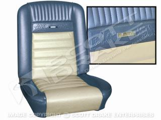 1965 Full Set Pony Upholstery (Black/White)