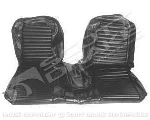 1965 Bench Seat Full Set Upholstery Black
