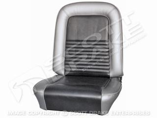64-65 Front Bucket Seat Upholstery (Black)