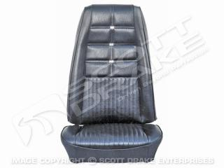 69 Deluxe Front Bucket Seat Upholstery (Black)