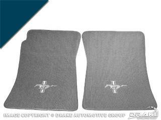 Custom Full-Size Carpet Floor Mats (Dark Blue)