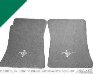 Custom Full-Size Carpet Floor Mats (Green)