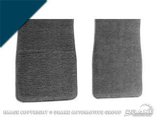 64-73 Carpet Floor Mats (Dark Blue)