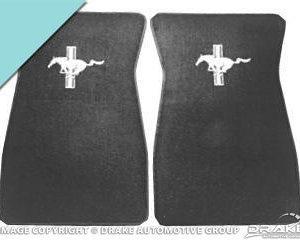 Embroidered Carpet Floor Mats (Aqua)