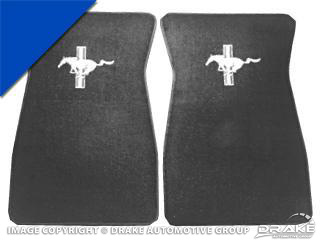 64-68 Embroidered Carpet Floor Mats (Bright Blue)