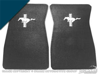 64-73 Embroidered Carpet Floor Mats (Dark Blue)