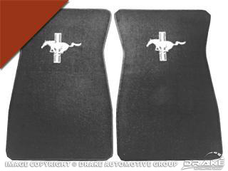 64-73 Embroidered Carpet Floor Mats (Emberglow)
