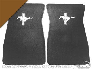 64-73 Embroidered Carpet Floor Mats (Saddle)